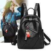 软皮质感2020新款书包韩版包包女电脑包休闲背包防盗包防水包