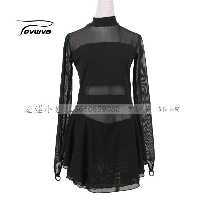 卓宝はフィギュアスケートの公演服を注文して、花溜の服装の子供の成人の女性の黒い試合の級を試験してスカートを演じます。