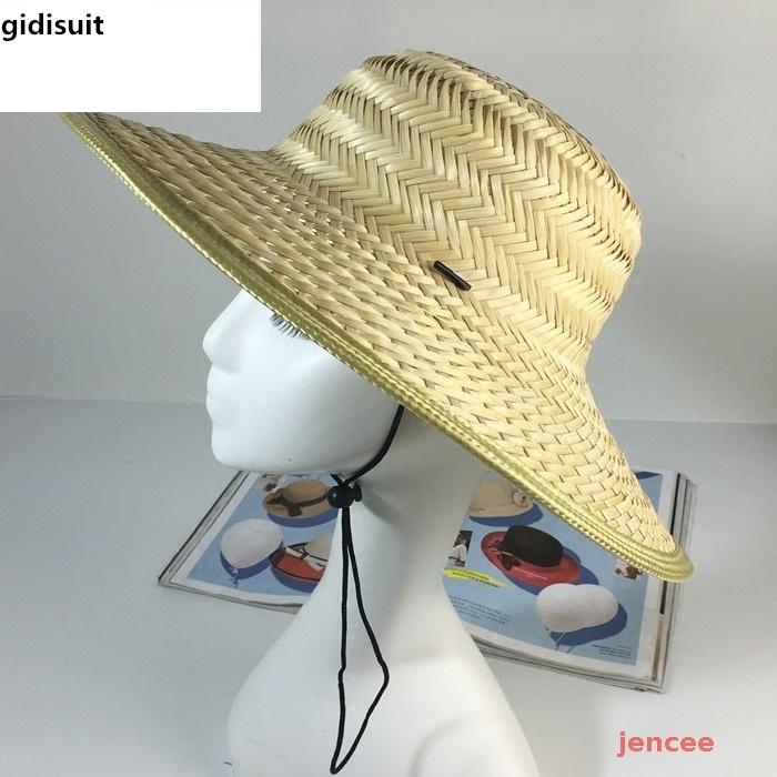 ビーチハットを編む。斗串帽男日焼け日よけサンバイザー農民の漁夫帽子帽子帽子職人の手作り