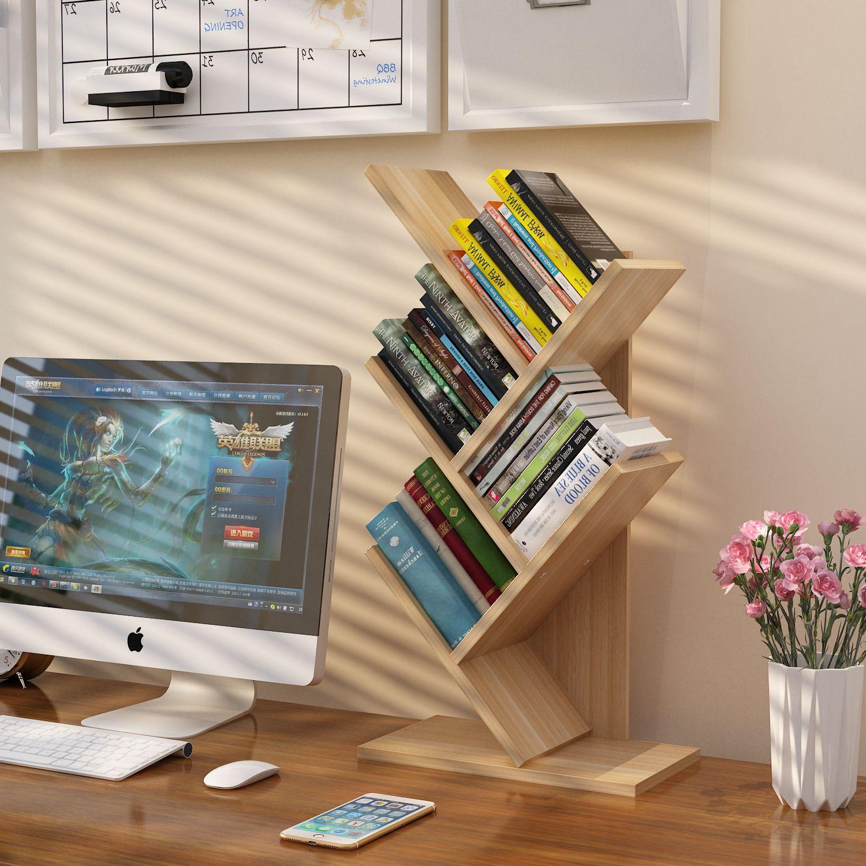 热销1件正品保证书柜创意简约书架树形桌面儿童宿舍收纳神器桌上异形艺术个性置物