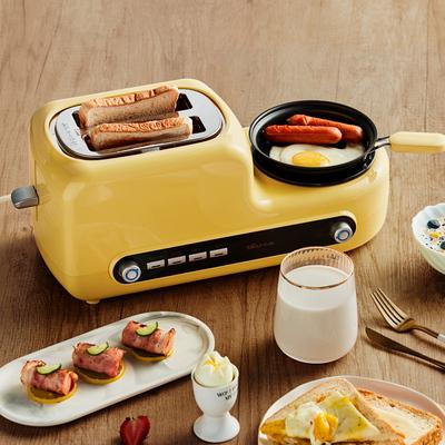 小熊烤面包机家用片多功能早餐机三合一多士炉土司机全自动吐司机