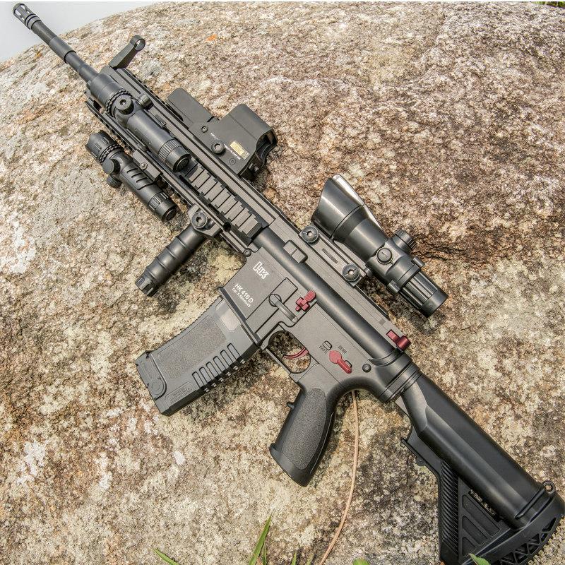 M416手自一体电动连发水弹枪M4绝地吃鸡套装求生狙击抢儿童玩具枪,可领取10元天猫优惠券