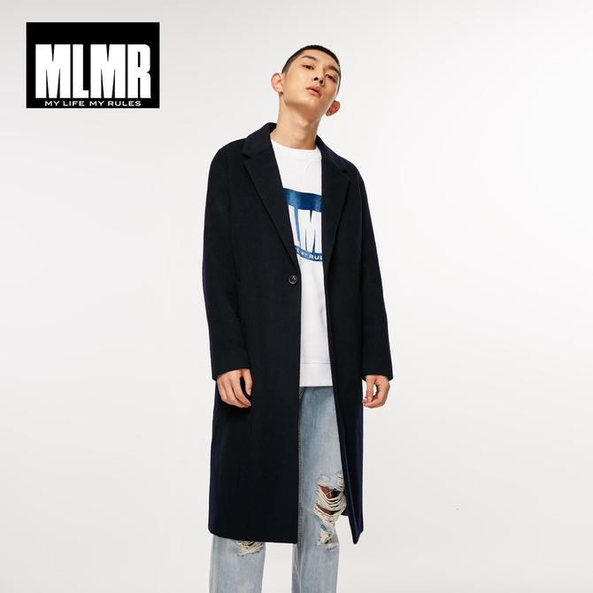 潮流舒适中长款 男士 outlets秋季 含羊毛呢子大衣毛呢外套风衣 MLMR