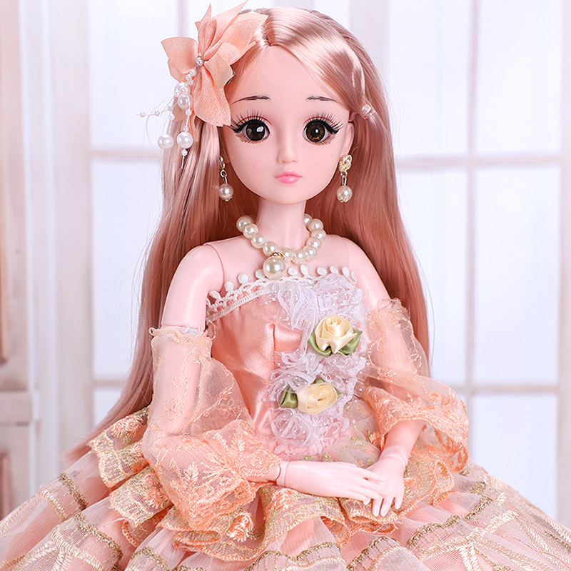 Super size 60cm Princess Dino Barbie super suit big gift box girl toy simulation single doll
