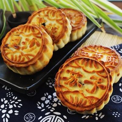 东北老式五仁青红丝月饼传统豆沙枣泥黑芝麻苏子独立包装10个包邮