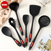 WUC authentic silica gel kitchenware set non stick pot special spatula kitchen household high temperature resistant cooking spatula soup spoon