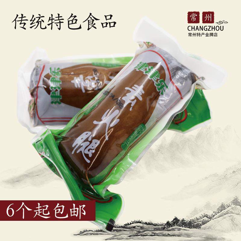常州土特产津津精乐素火腿豆制零食卤制豆腐干素鸡开袋即食180克