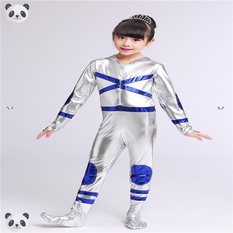 儿童动漫剧机器人舞台卡通表演服装幼儿宇航员太空服现代舞演出服