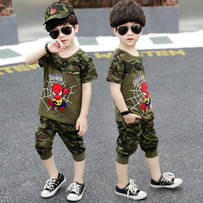 Camouflage suit children boy special forces summer camp military training spring and autumn performance clothing summer clothing childrens military uniform