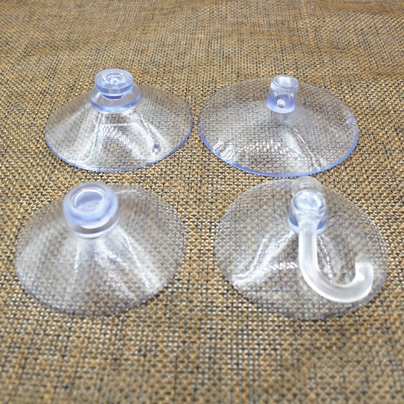 Strong transparent perforated suction cup bathroom hook wall hanging kitchen head glass mushroom stick hook toilet car vacuum