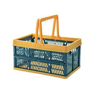 水果可折叠车载超市购物篮家用野餐收纳筐零食手提篮买菜篮杂物筐