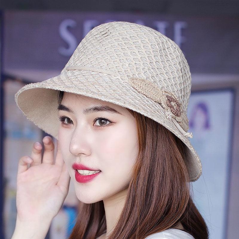 夏の帽子の女性帽子の日よけ帽子森ガールスタイルの淑女帽子の糸を編む漁師の帽子鉢の帽子のレジャーの通気性の帽子