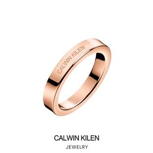 專櫃小ck戒指滿天星情侶對戒男女一對經典款素圈情人節禮物
