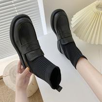 ck靴子显瘦复古短靴女鞋瘦瘦靴弹力靴他她官方旗舰店小YATOUTATA
