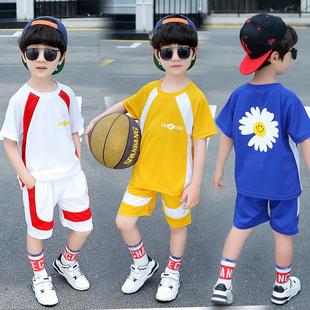 男童夏装套装2020新款中大儿童篮球服速干衣运动韩版洋帅气网红潮
