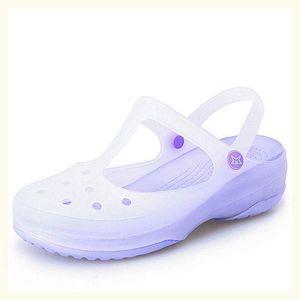 海边孕妇夏季情侣平底包头洞洞鞋沙滩鞋果冻凉鞋凉鞋韩版甜美新品