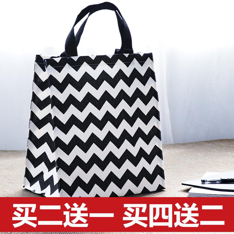 Large capacity canvas bag, environmental protection shopping bag, student storage bag, tutorial bag, waterproof lunch box bag, lunch bag