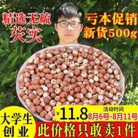 肇庆芡实干货500g包邮新鲜野生欠实芡实米鸡头米茯苓薏米红皮茨实