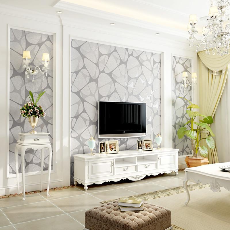 体无纺布植绒壁纸温馨卧室客厅电视背景墙纸爱柏现代简约鸟巢3d立