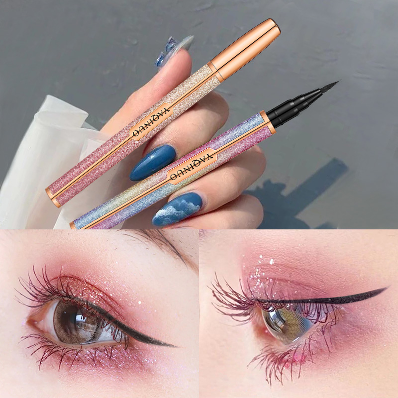 雅琪诺棕色眼线笔新手初学者细头极细眼线胶笔液笔防水不晕染持久