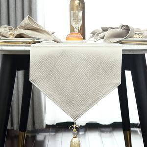 桌旗现代简约北欧餐桌装饰布长条床旗床尾巾美欧式轻奢华茶几桌布