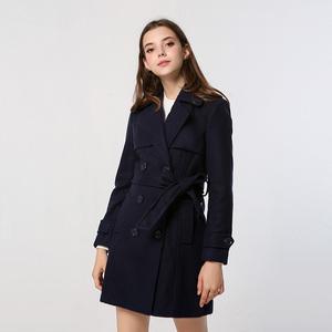 外套女2019新款呢料大衣中长款风衣时尚修身显瘦收腰背心连衣裙