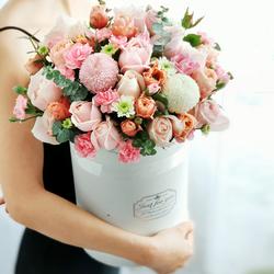 北京同城鲜花速递玫瑰花束韩式礼盒抱抱桶手提花篮生日情人节配送