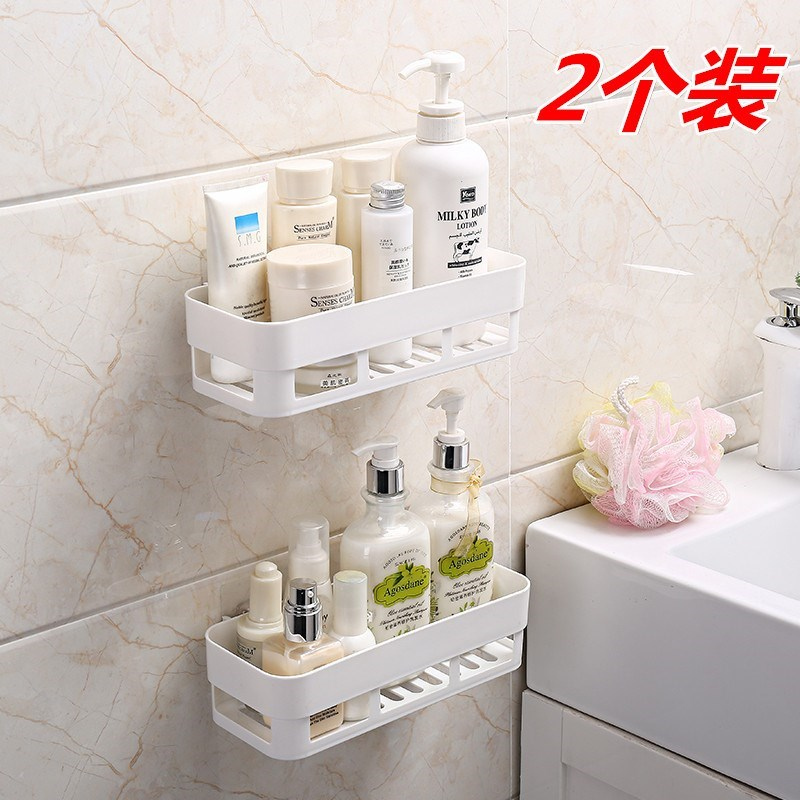 Uncle hesui hangs on the wall, pastes the net basket of the skin care bathroom, bathes the articles, and stores the hollow new articles on the wall