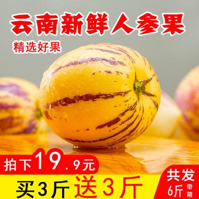 云南石林人参果带箱6斤包邮新鲜人参果水果黄肉当季时令人生果