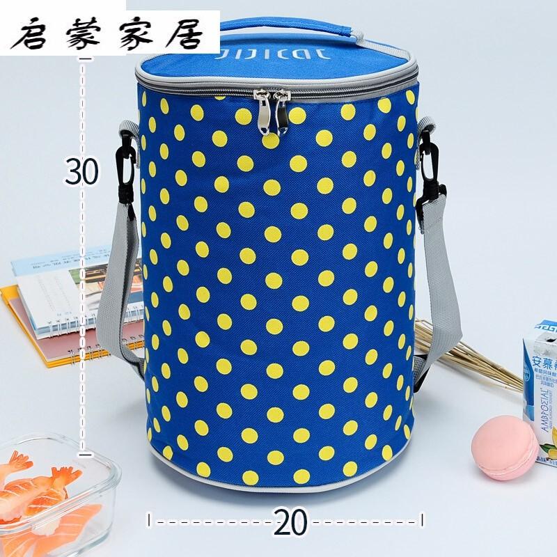Lunch box bag handbag aluminum foil thickened lunch box bag thermal insulation bag lunch box bag round lunch box Bucket Bag