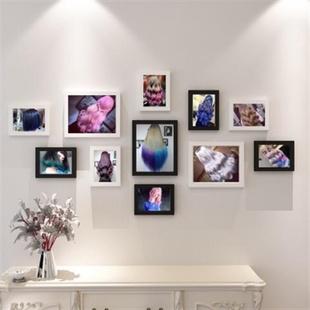 饰画 照片墙装 专业美容美发店个性 饰海报发型图片理发店相框发廊装