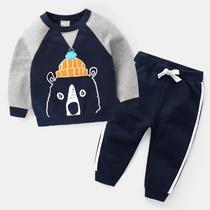 男童长袖套装2019新款夏装童装宝宝儿童小童运动帅气衣服潮两件套