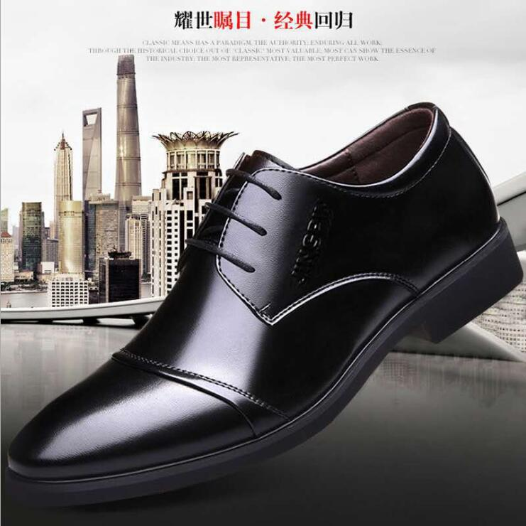 Zhuodei large mens shoes mens shoes business casual shoes mens wedding shoes pointed leather shoes