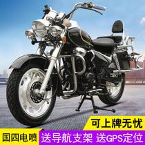 复古风暴太子摩托车跑车国四电喷200CC宗申发动机大人两轮摩托车