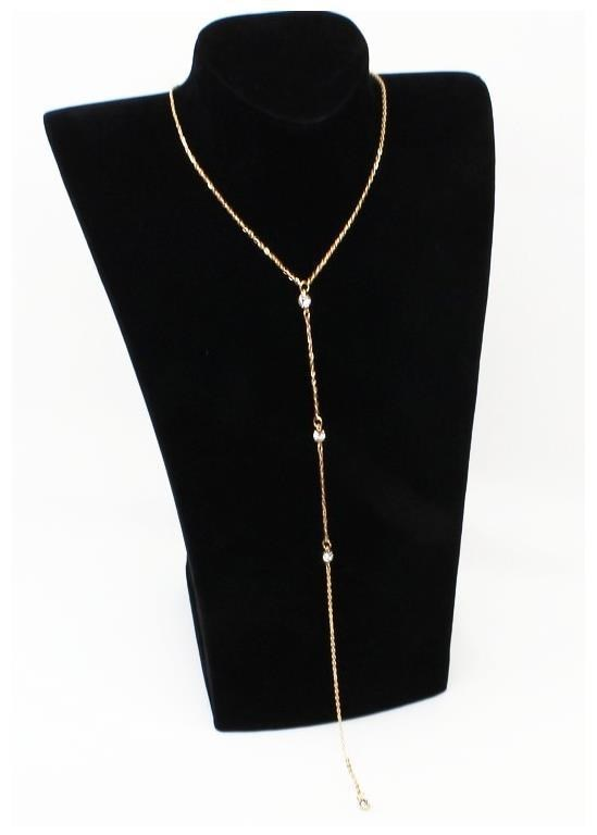 C163 body inlaid with diamond back chain simple necklace chain back necklacebody womens back chain