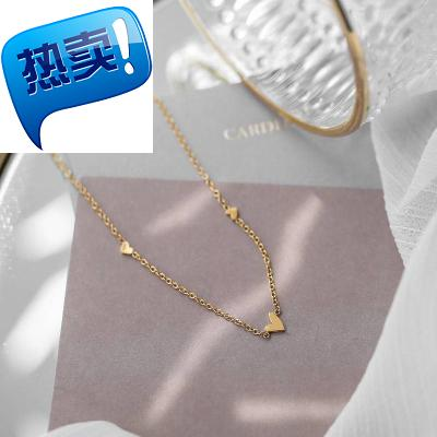 . Girl to simple 3 small love necklace clavicle chain female cool style gentle and small cant breathe out