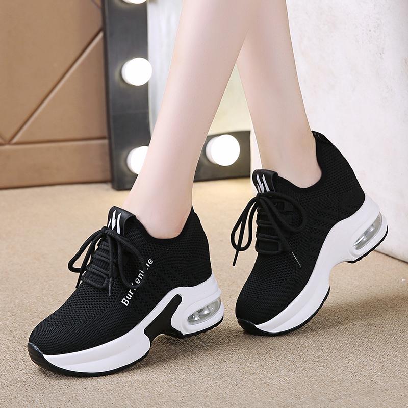 厚底内增高女鞋2021春季新款韩版小白鞋百搭显瘦休闲轻便运动鞋子