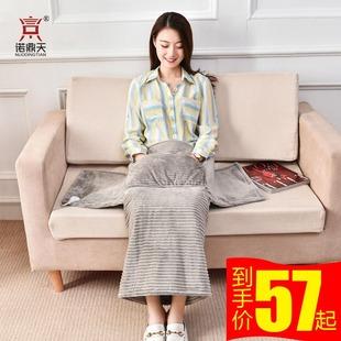 电热护膝围毯子暖脚套神器盖腿加热坐垫办公室小型电热毯取暖褥子