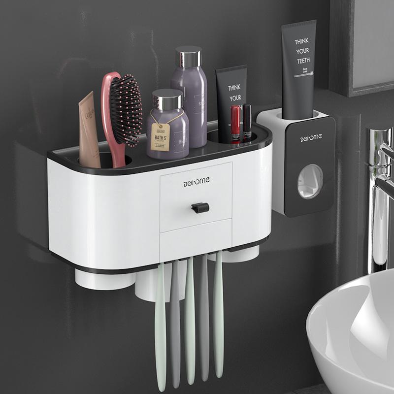 11月30日最新优惠抖音同款牙刷三口之家放防尘置物架