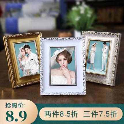 折扣款婚纱照片欧式创意相框摆台5 6寸7寸8 10寸A4相架画框桌摆