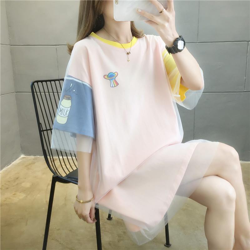 夏季女装2021新款网纱拼接短袖t恤值得买吗