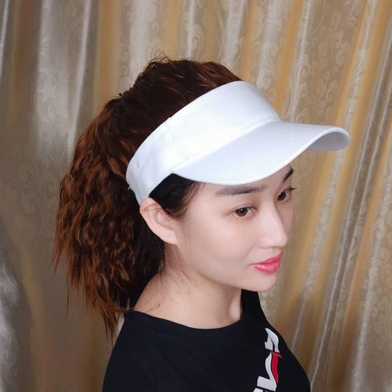 网红空顶假发帽女夏季遮帽马尾一体运动太时尚遮棒球鸭舌帽