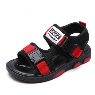 儿童凉鞋2020新款韩版夏季男童凉鞋中大童露趾软底防滑沙滩鞋女童