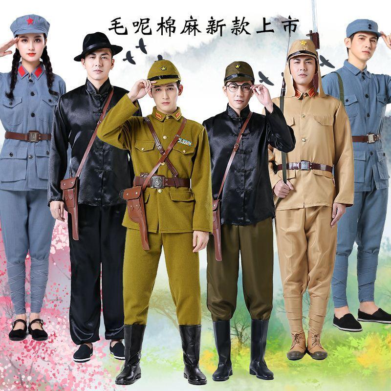 学校小孩呼唤儿童日本兵演出服长裤大娘老百姓女装鬼子兵童装比赛