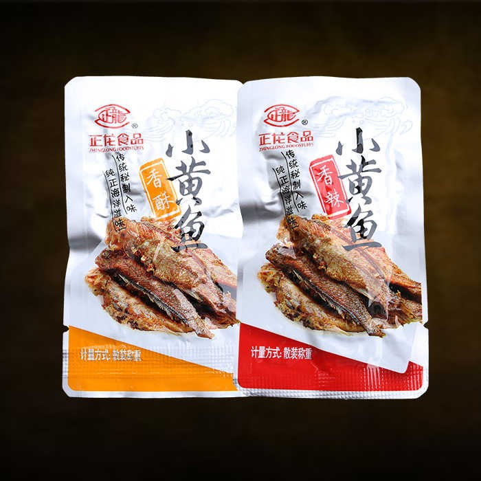 浙江舟山特产 食品小黄鱼 500g 香酥/香辣味 鱼干零食即食。