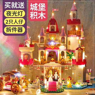 启蒙积木樂高玩具莉娅公主系列女孩城堡益智拼装马车8房子10岁12