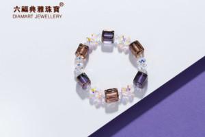 六福典雅珠宝 捷克琉璃施华洛手链水晶手链