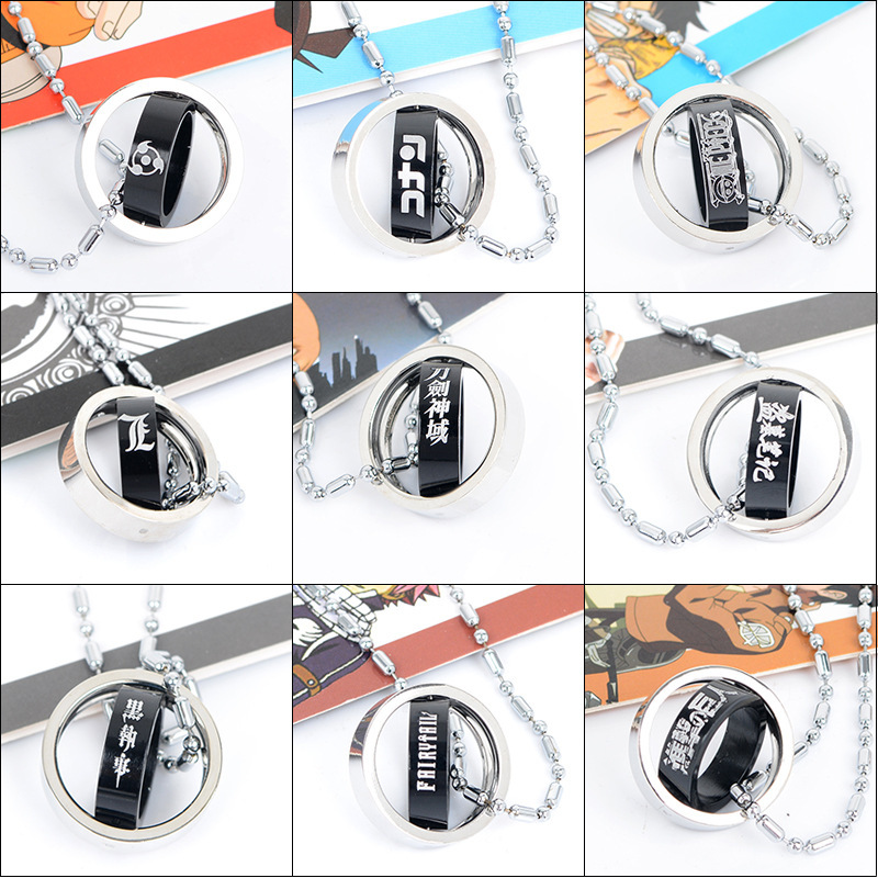 Naruto Necklace death note Conan attacks giant ring necklace animation around