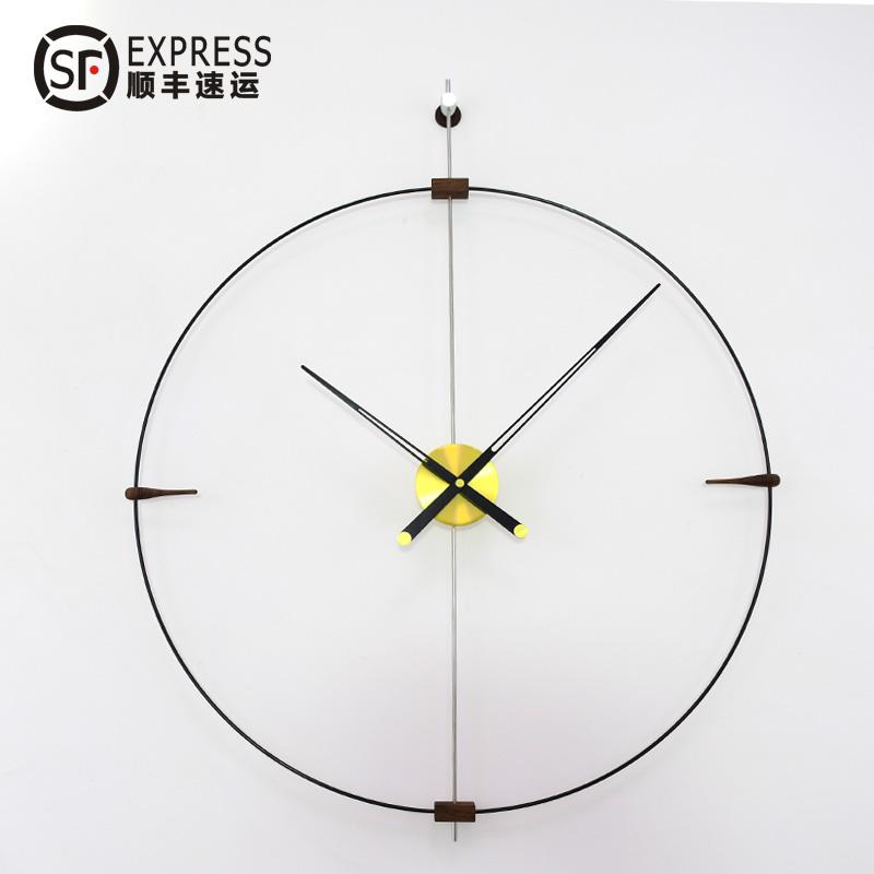 创意现代个性挂钟极简北欧静音西班牙风格家用客厅大尺寸时钟表墙