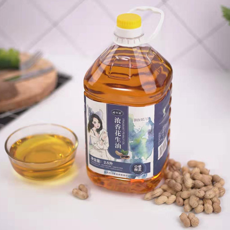 [Hubei poverty alleviation products] 2.5L edible oil of Luzhou flavor peanut oil in Duheyuan, Zhushan County, Shiyan City